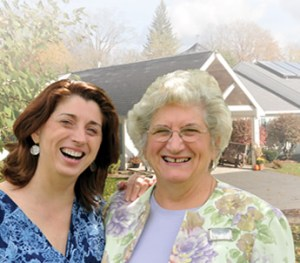 Women at Windsor nursing home smile