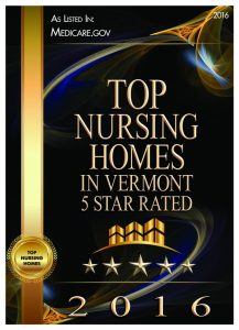 2016 Best Nursing Homes in Vermont Award
