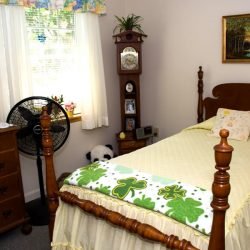 Resident's personalized room at retirement community in Windsor