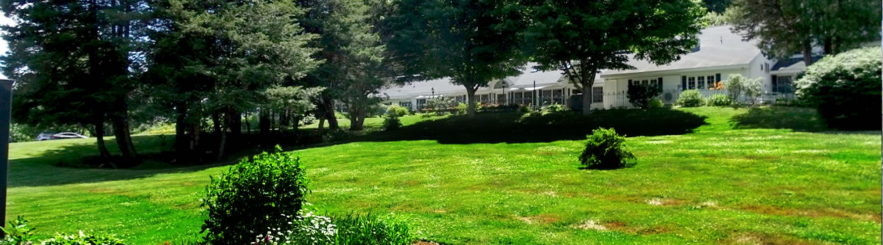 Beautiful grounds at Vermont memory care facility