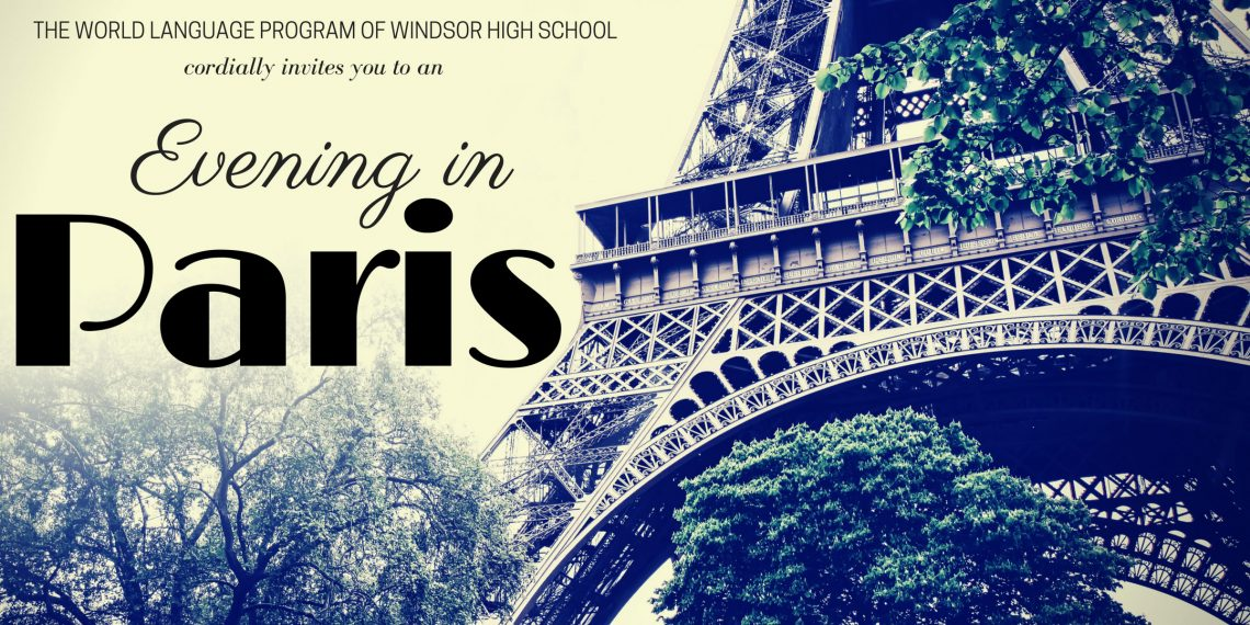 "Join us for an ""Evening in Paris"""