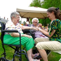Senior living center in Windsor offers hand massages to residents