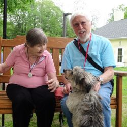 Dog at senior apartments in Windsor greets residents