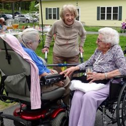 Residents at dementia care facility in Vermont have fun outside
