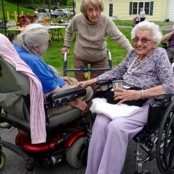 Residents at retirement village in Windsor visit with each other