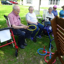 Vermont dementia care facility residents play outdoor games