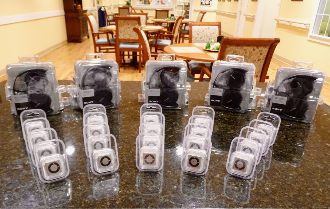 Cedar Hill's donation of 20 iPod Shuffles and Headphones