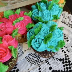 Flowers on cupcakes at assisted living home in Windsor