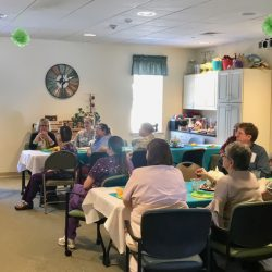 Staff share in celebration at nursing home in Windsor