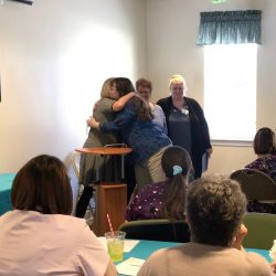 Staff gathering at dementia care center in Vermont