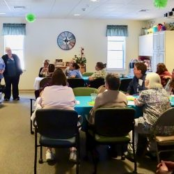 Celebration of employees at memory care facility in Vermont