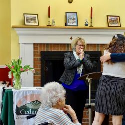 Hugs shared by staff at nursing home in Windsor