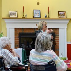Staff talks at senior living center in Windsor