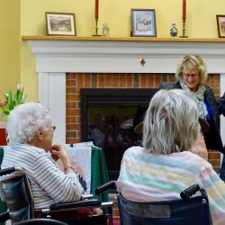 Residents celebrate with staff at retirement home in Windsor