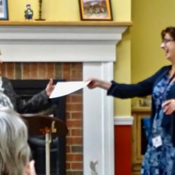 Staff receives an award at retirement community in Windsor