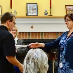 Leader hands out awards at assisted living home in Windsor