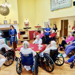 Windsor retirement home residents gather