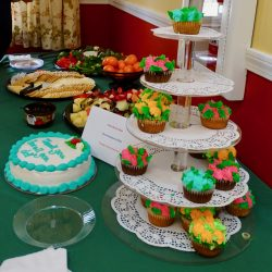 Beautiful cakes on table at memory care facility in Vermont