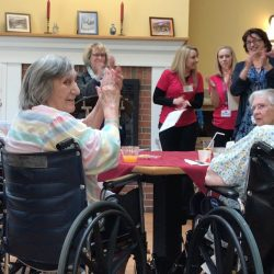 Residents clap and cheer at senior living community in Windsor
