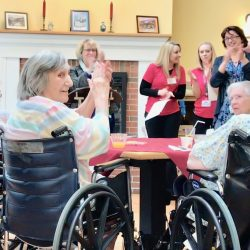 clapping residents at assisted living home in Windsor