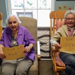residents at our senior living center in Windsor celebrate