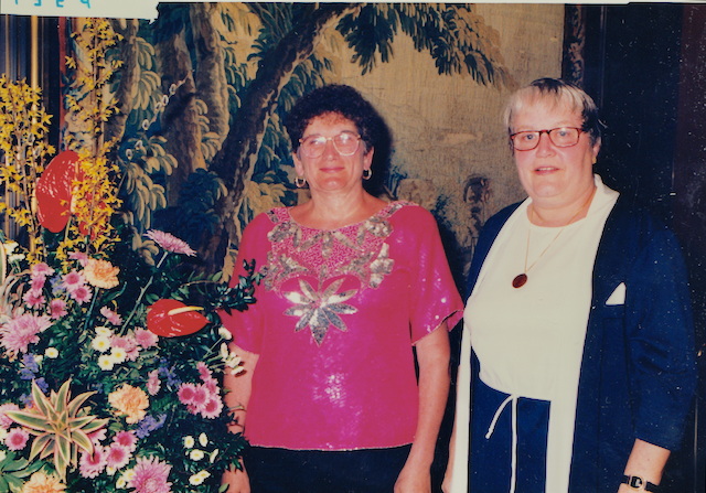 Mary Louise and Judy in 1994