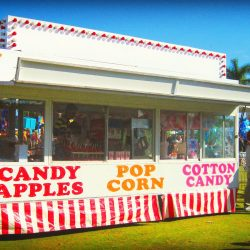 Image of a Candy Wagon Food Stand