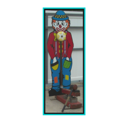 Image of cutout decorative clown