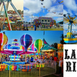 Collage of Large Carnival Rides