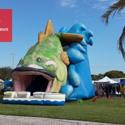 Giant Inflatable Bass Slide Rental