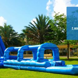 Blue Crush Giant Inflatable Slide Rental
