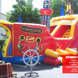 Inflatable Buccaneer Slide Bouncer