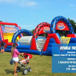 Double Trouble Inflatable Obstacle Course Carnival Game