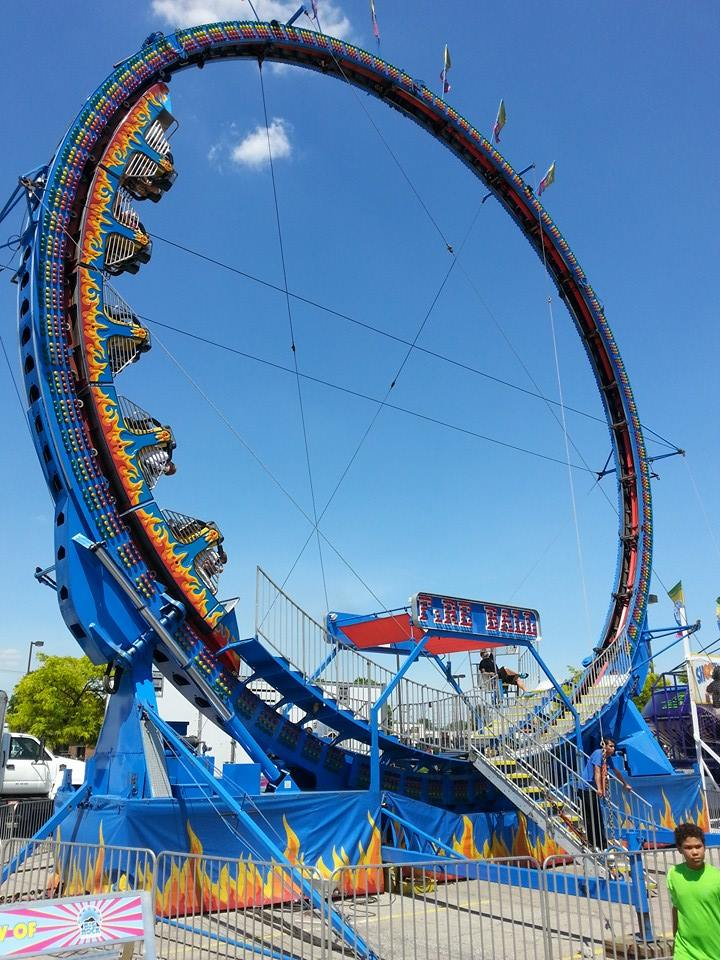 The Fire Ball Roller Coaster Party Rental - Celebration Source