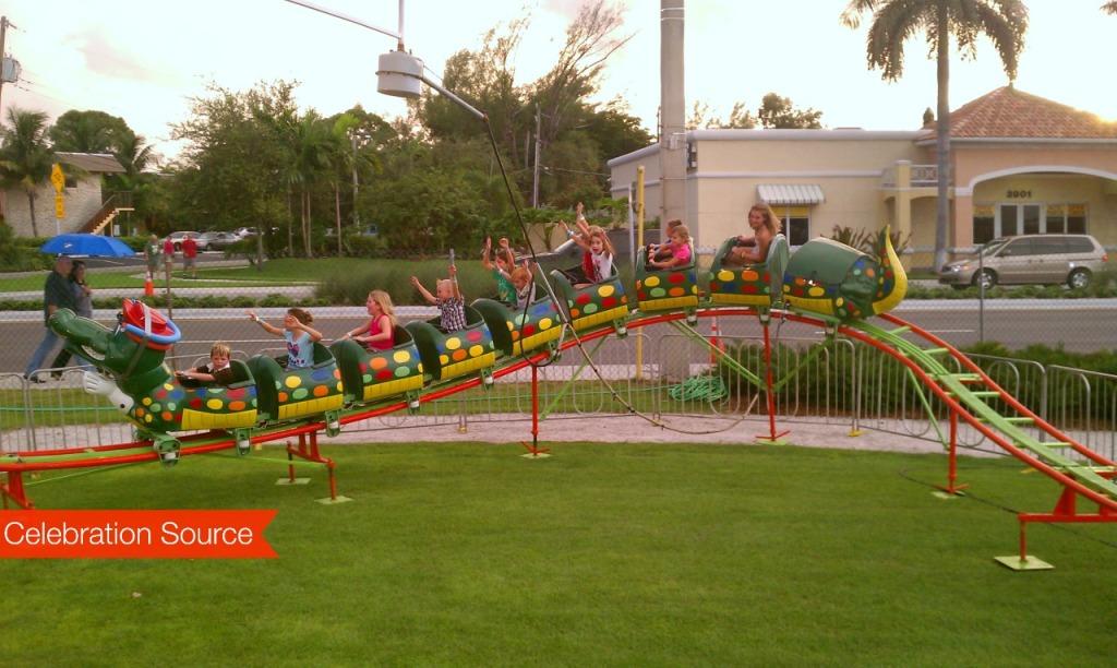 Children Enjoying the Go-Gator Mechanical Ride - Celebration Source
