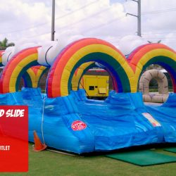 Rainbow Slip and Slide Water Inflatable-Celebration Source