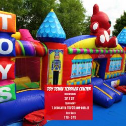 Toy Town Inflatable Bouncer Rental-Celebration Source