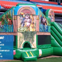Zoo Bounce House and Inflatable Slide