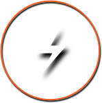 Lightning Icon with Orange Circle