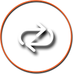 Arrow Icon with Orange Circle