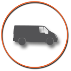 Truck Icon with Orange Circle