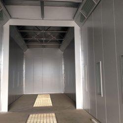 Inner metal framework of spray booth