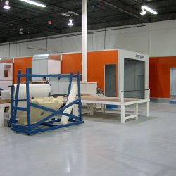 Warehouse with multiple spray booths under construction
