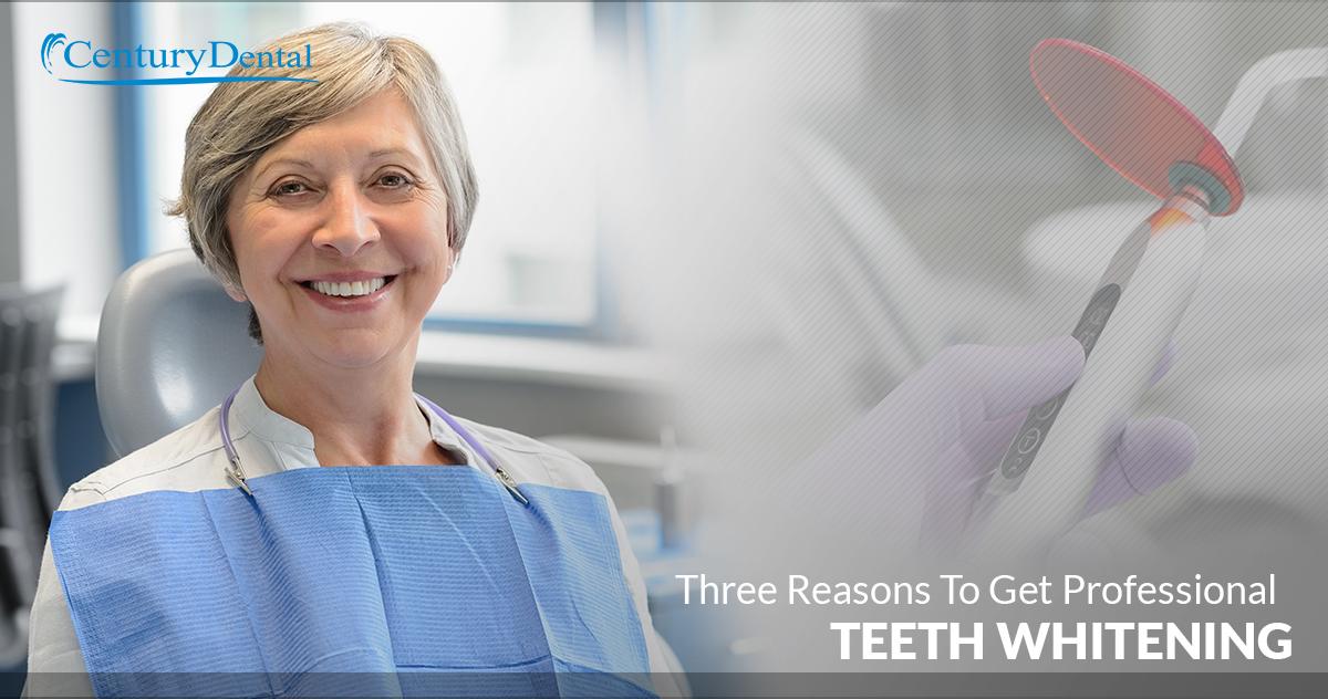 Three Reasons To Get Professional Teeth Whitening