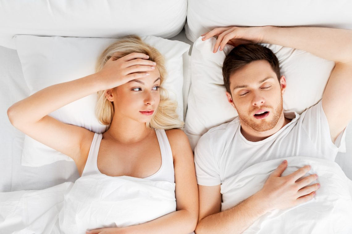 wife disturbed by husband snoring