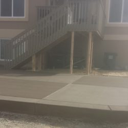 Custom Concrete Patio Colored