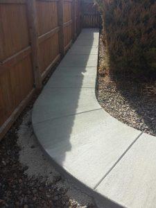Concrete walkway in Longmont
