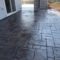 Shiny Stamped Patio