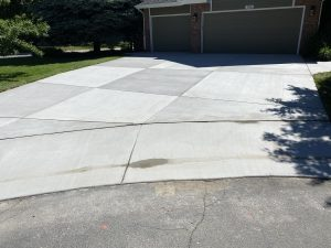 Concrete Driveway with Smooth Entrance