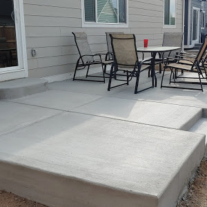 Patio With Indented Step